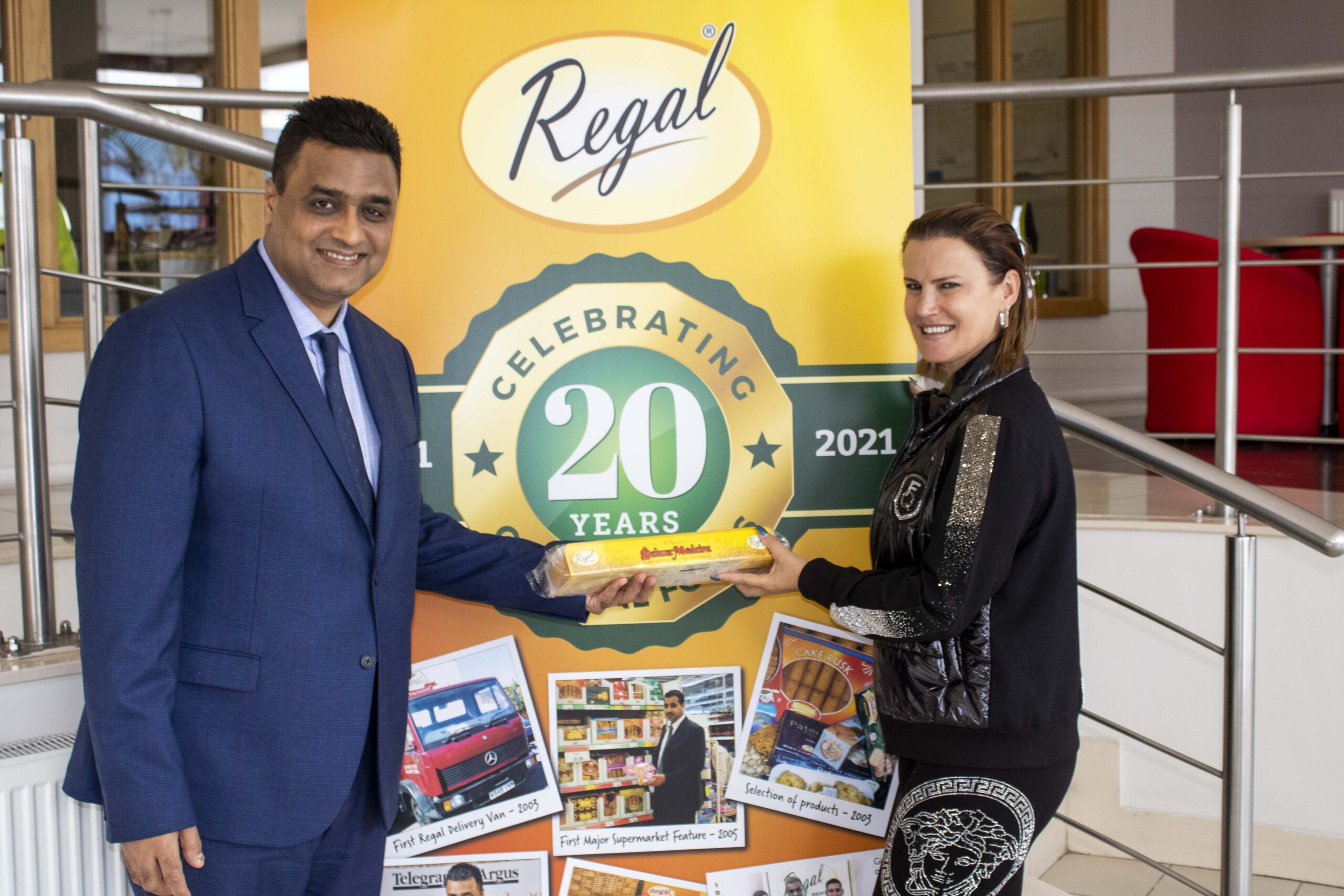 Elma Aveiro – entrepreneur and sister to football superstar, Cristiano Ronaldo, visited Regal Foods as part of their 20th anniversary celebrations.